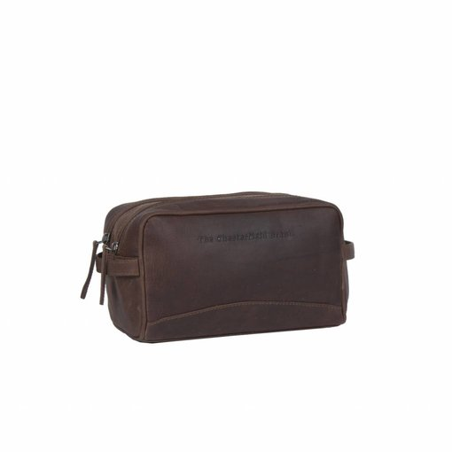 The Chesterfield Brand Toiletbag 'Stacey' Wax Pull Up Leather Bruin