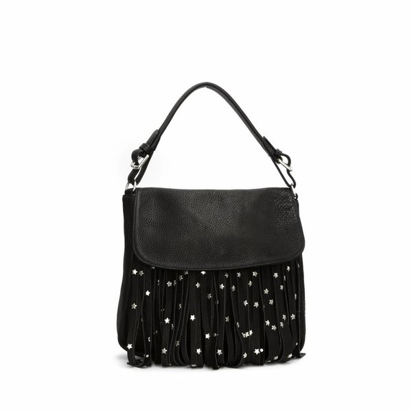 PAULINE BAG - STAR STUD FRINGES - Dallas Black