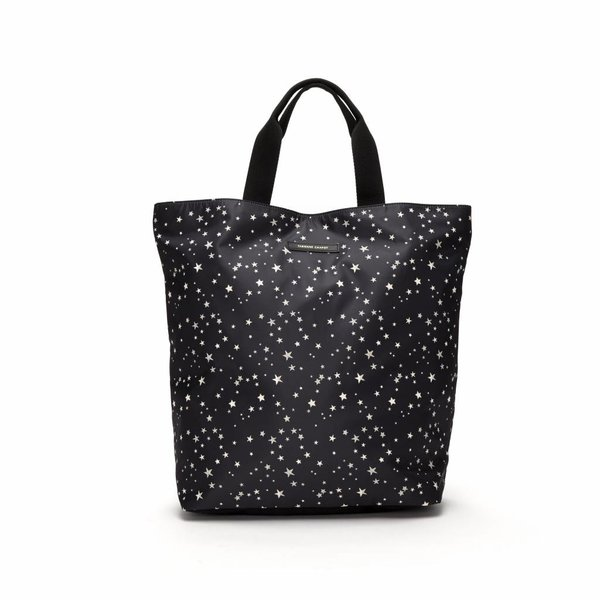 CRUISE SHOPPER BAG - BLACK WHITE STARS