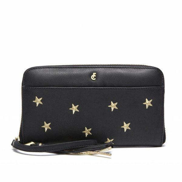 FC PURSE DALLAS - BLACK GOLD STARS EMBROIDERY