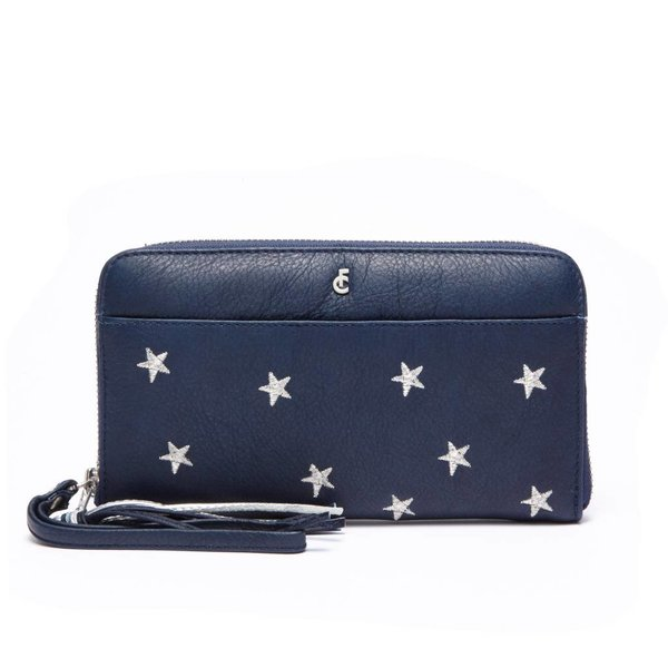 FC PURSE DALLAS - NAVY SILVER STARS EMBROIDERY