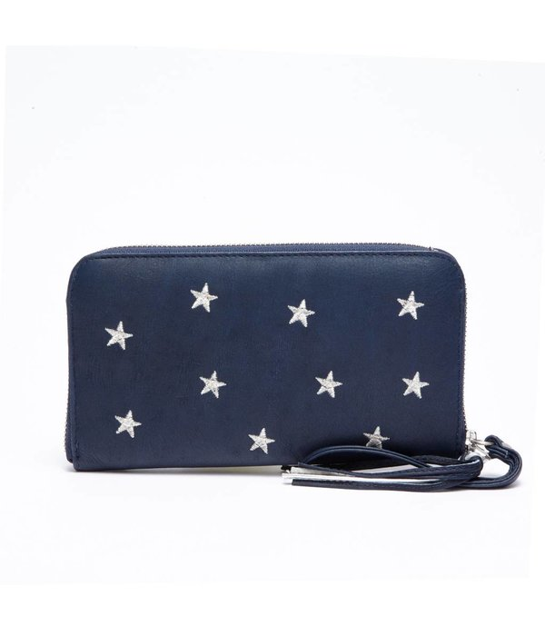 Fabienne Chapot FC PURSE DALLAS - NAVY SILVER STARS EMBROIDERY