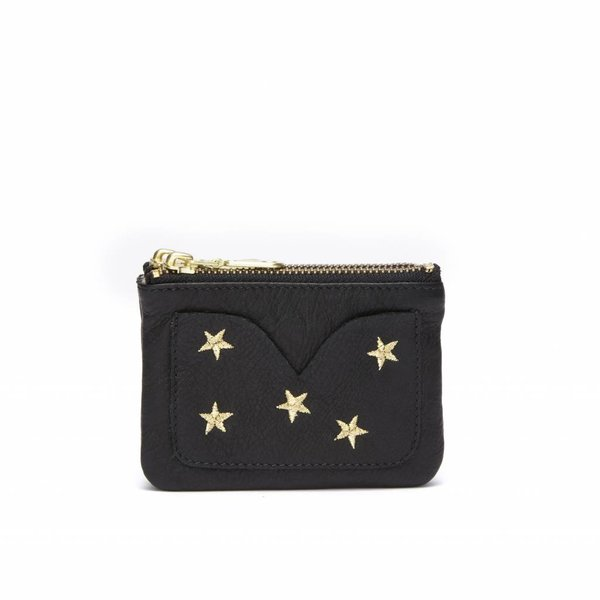 SOFIA PURSE - DALLAS BLACK GOLD EMBROIDERY