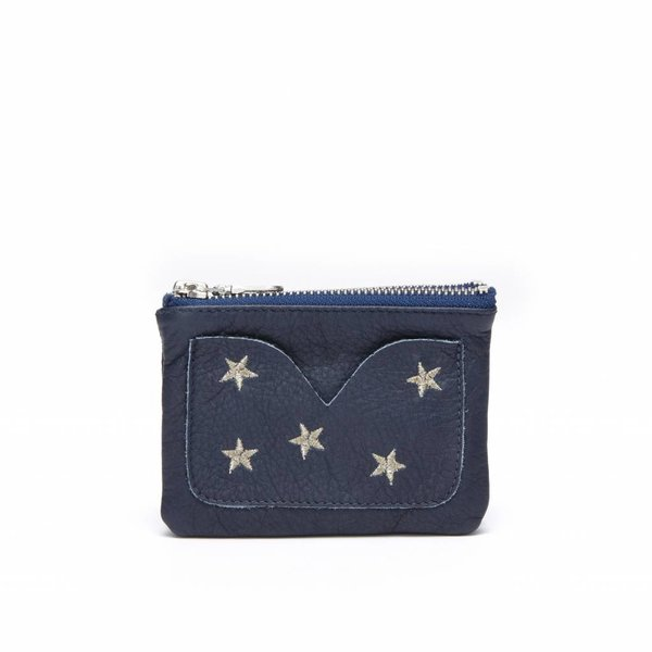 SOFIA PURSE - DALLAS NAVY SILVER EMBROIDERY