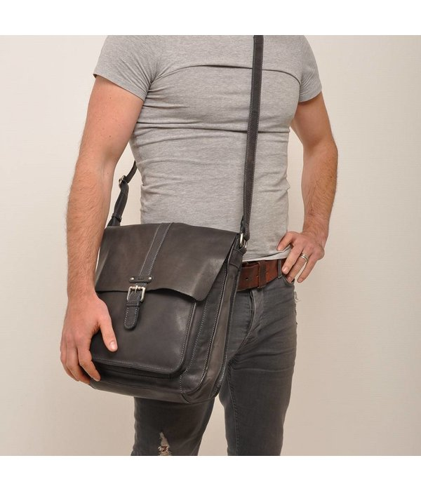 Berba MESSENGER BAG AROSA - GRIJS