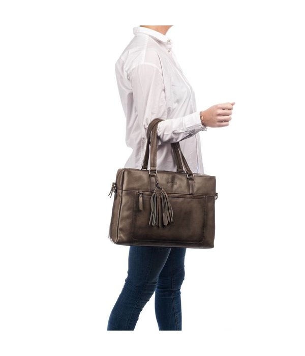 Burkely Noble Nova Laptopbag - Taupe