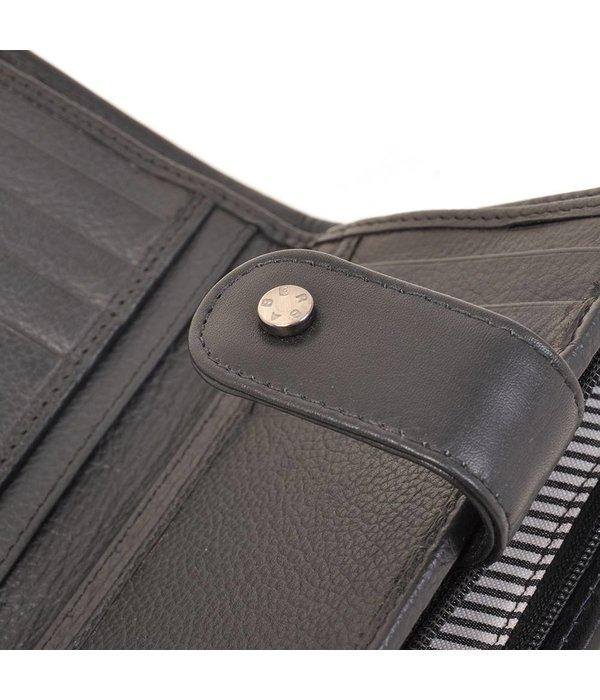 Berba Praktische zwarte portemonnee