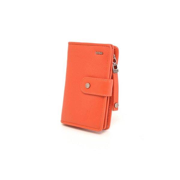 Praktische coral rode portemonnee