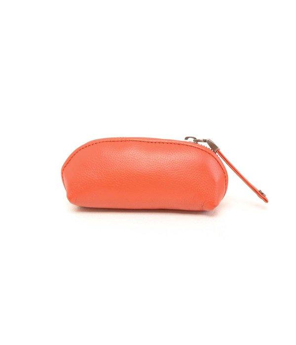 Berba coral rode leren sleuteletui