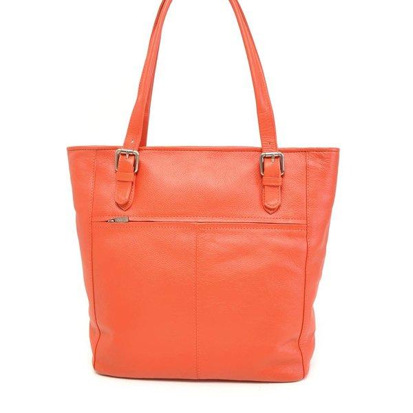 leren coral shopper voor dames