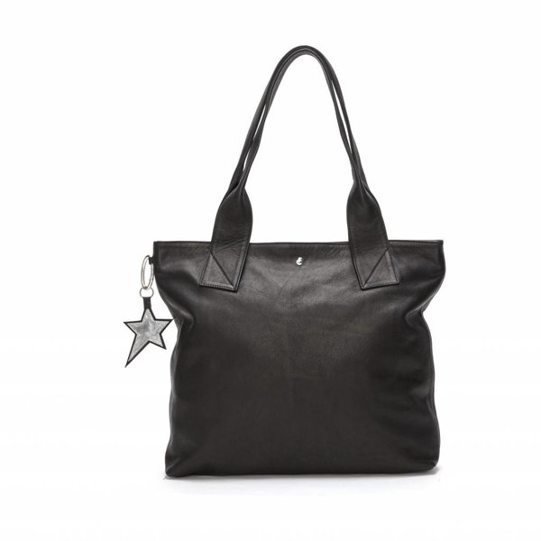 Rocking Shopper Black Leather