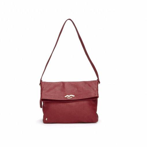 Fabienne Chapot schoudertas Forever Bag cashmere rubino