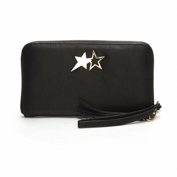 Double Star Purse Small Zwart