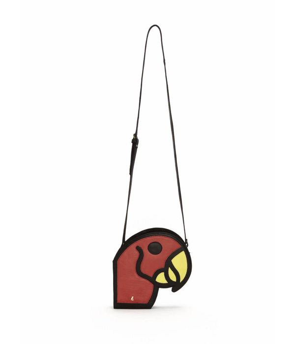 Fabienne Chapot Parrot Red Cow Crossbody Bag