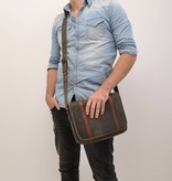 Barbarossa Stoere used-look laptoptas - military