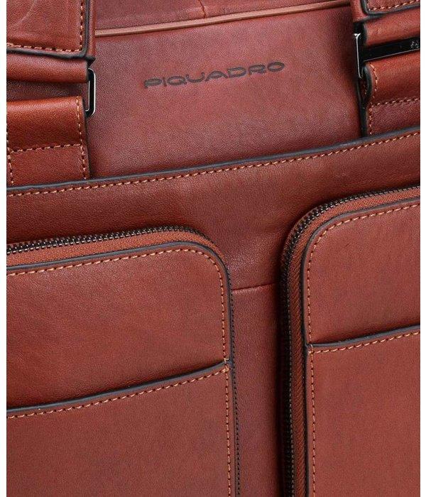 """Piquadro Black Square Computer Briefcase 15"""" tobacco"""