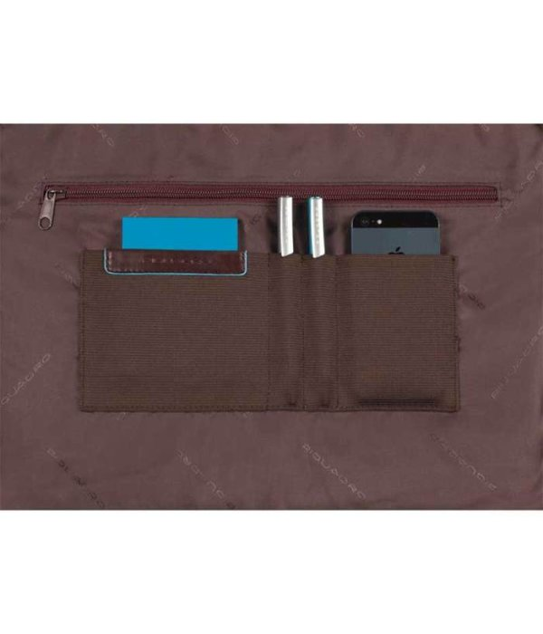 Piquadro Blue Square Computer Portfolio Briefcase 15'' mahogany