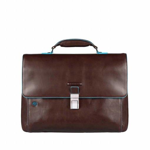 Piquadro Expandable Computer Portfolio Briefcase With iPad/ Bruin