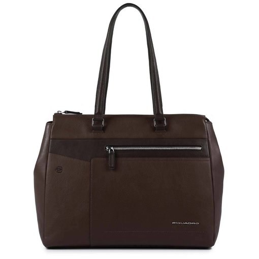 Piquadro Cary Computer Shopping Bag dark brown