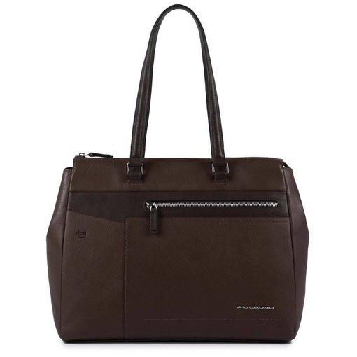 Piquadro Cary Computer Shopping Bag dark brown