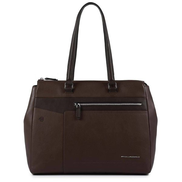 Cary Computer Shopping Bag dark brown