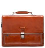 Piquadro Expandable Computer Portfolio Briefcase With iPad/ Oranje