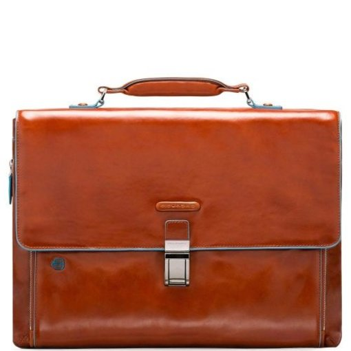 Piquadro Expandable Computer Portfolio Briefcase With iPad/ Oranje