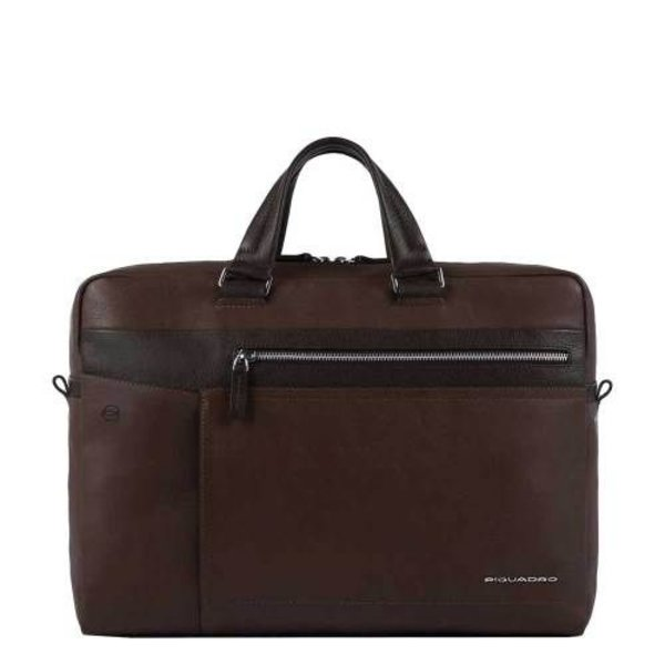 Cary Portfolio Computer Briefcase chestnut brown