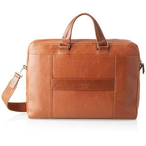 Piquadro Cary Portfolio Computer Briefcase chestnut cognac