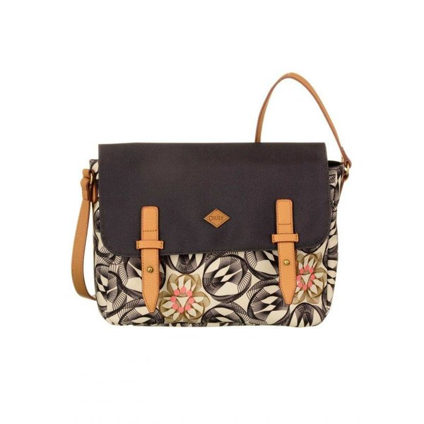 Flower Swirl M Shoulder Bag Charcoal