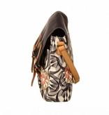Oilily Flower Swirl M Shoulder Bag Charcoal
