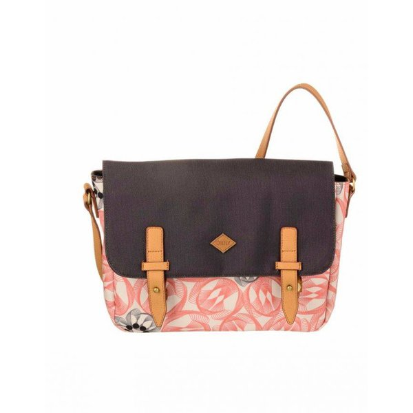 Flower Swirl M Shoulder Bag Pink Flaming