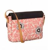 Oilily Flower Swirl M Shoulder Bag Pink Flaming