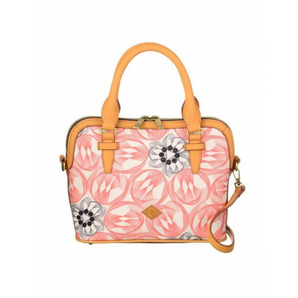 Flower Swirl S Handbag Pink Flamingo