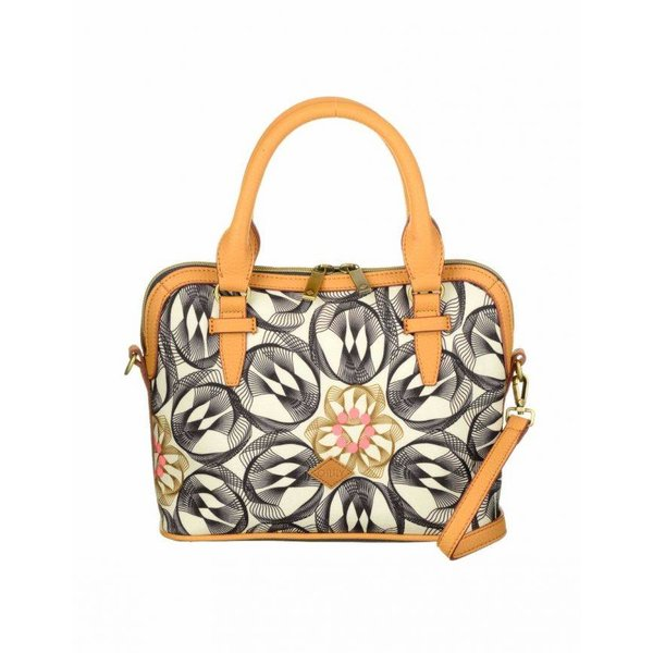 Flower Swirl S Handbag Charcoal
