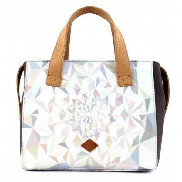Handbag oes7189–029oyster White Dames handtas Schoudertas