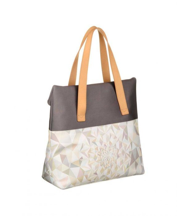 Oilily Kinetic Tote Oyster White schoudertas