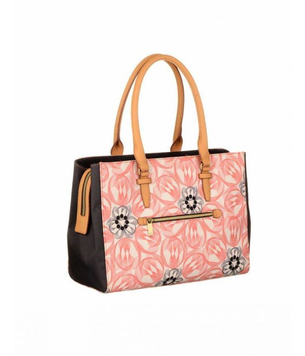 Oilily Flower Swirl Carry schoudertas rose