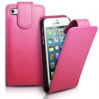 Iphone 5 flip cover licht roos