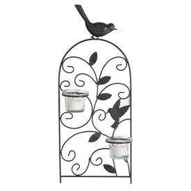 Meinposten.de Wandkerzenhalter schwarz Vogel