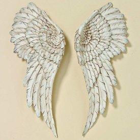 Meinposten.de Engelsflügel Wanddekoration Deko Flügel zum aufhängen Wandornament Antik H 54 cm