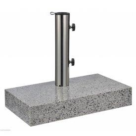 PurGarten Schirmständer Granit 25 KG halb groß