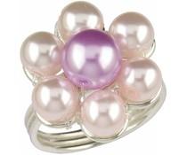 Silberring 3610 Perlen w p+f