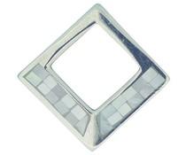 Silberohrstecker 6173 MOP h p 21x21mm Paarpreis