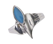 Silberring 1420 Onyx Türkis Koralle 19mm