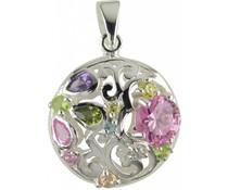 Silberanhänger mit Stein, Perlen etc.