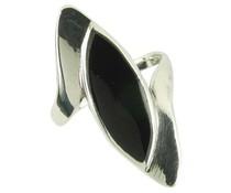 Silberring mit Onyx Gr 66 2145