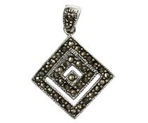 Silberanhänger mit Markasiten 8714 23mm