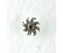 Markasitohrstecker Granat 8920 Paarpreis 13mm
