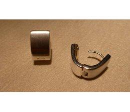Ohrringe Creolen eckig Silber 9mm W5756
